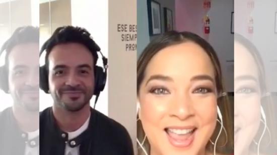Luis Fonsi y Adamari López cantan 'juntos' el tema 'Échame la culpa'