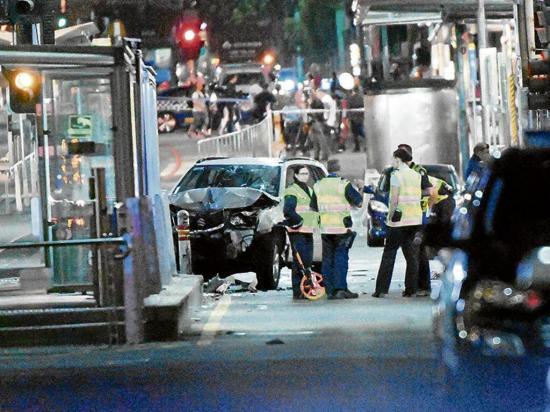 Un detenido tras el atropellamiento a 12  personas en Melbourne