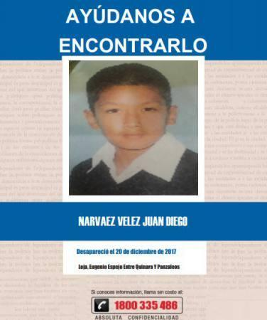 Niño que había desaparecido en Loja huyó de casa por temor a ser castigado