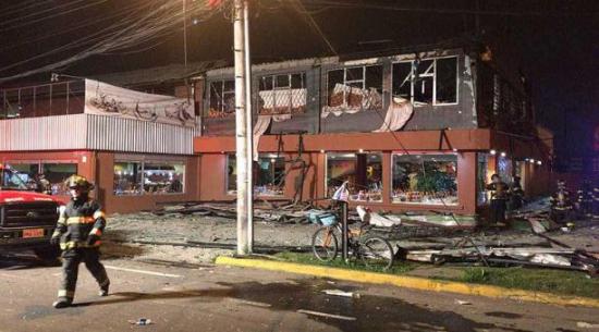 Confirman que explosión en restaurante de Quito dejó un niño muerto