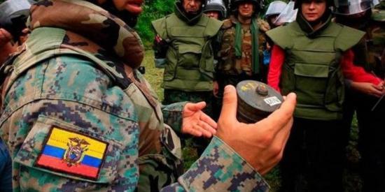 Ecuador logra prórroga de 5 años para culminar desminado en frontera con Perú
