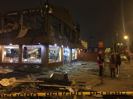 Dos muertos en explosión en un restaurante