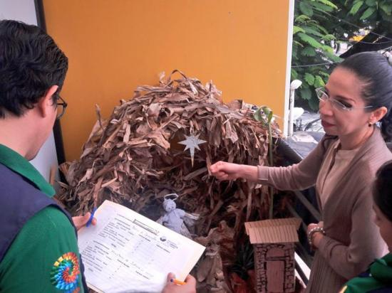 El Banco de Desarrollo gana concurso de mejor pesebre ecológico