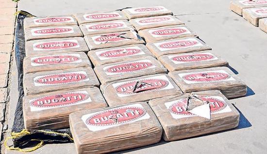 Investigan a qué cártel pertenece carga de cocaína
