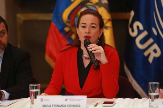 Canciller ecuatoriana viajará a EE.UU. para traspasar presidencia G77 a Egipto