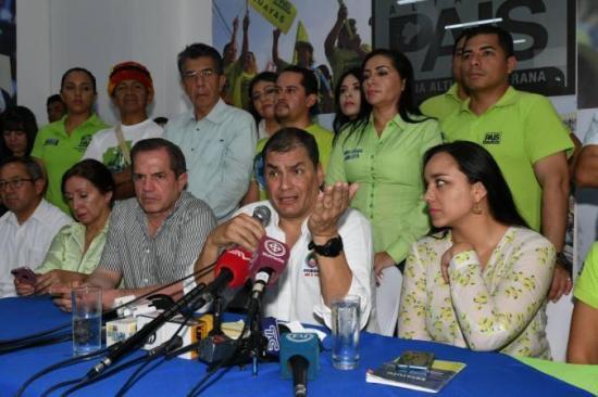 Correa inicia en Guayaquil la campaña por el No en consulta popular
