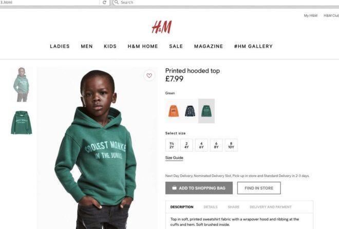 H&M retira el anuncio y el suéter calificado de racista ante la polémica