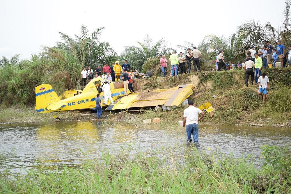 Un muerto en accidente de avioneta en Los Ríos