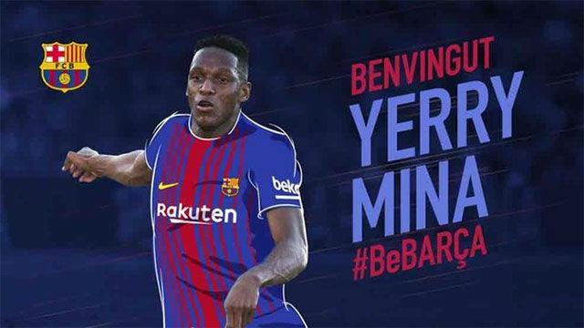 Yerri Mina, el primer colombiano que jugará con el Barcelona