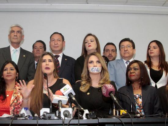 CAL suspende por diez días a tres legisladores de la Asamblea Nacional