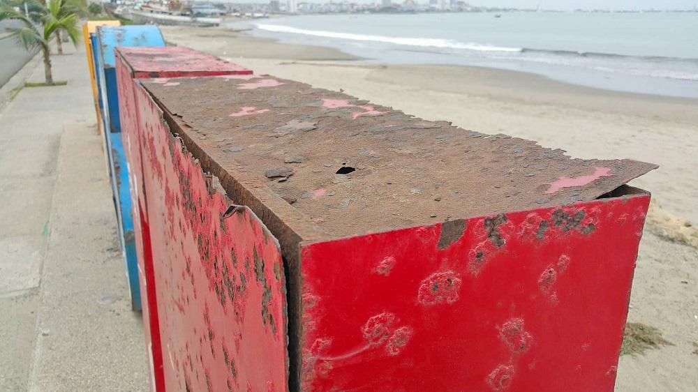 Manta: Rehabilitarán letras de playas