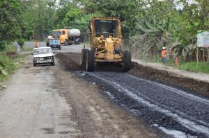 Obra vial se ejecuta en La Guayas
