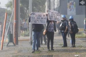 Disuelven una protesta contra la visita del papa Francisco en Santiago de Chile