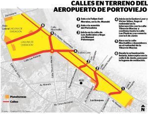 Abrirán seis calles en el aeropuerto Reales Tamarindos