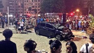 Al menos 15 heridos en atropello masivo en la playa de Copacabana