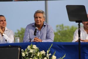 El presidente Lenín Moreno entregó el parque Las Vegas a Portoviejo