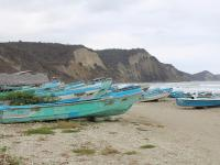 """""""Cementerio"""" De Botes En Puerto Cayo"""