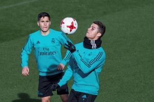 Cristiano Ronaldo con un ojo morado se suma a los entrenamiento del Real Madrid