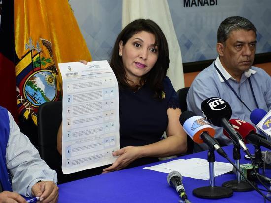 Papeletas llegan a Manabí el domingo