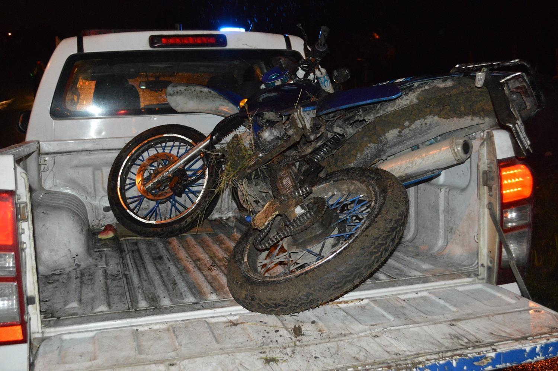 Motorizado herido en accidente