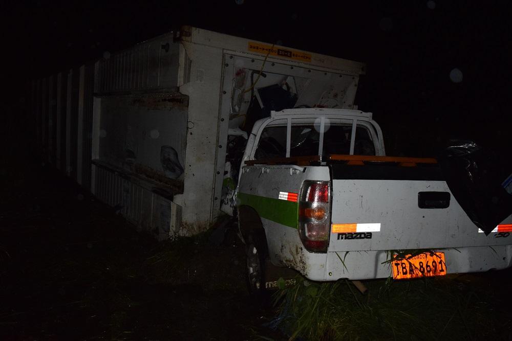 Familia muere aplastada por un contenedor en la vía Quevedo-Ventanas