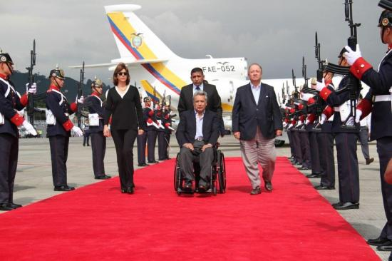 Lenín Moreno llega a Colombia para asistir al Sexto Gabinete Binacional