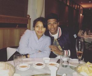 El futbolista ecuatoriano Antonio Valencia celebró San Valentín junto a su hija