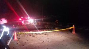 Un muerto tras la explosión de un carro en Colta, provincia de Chimborazo
