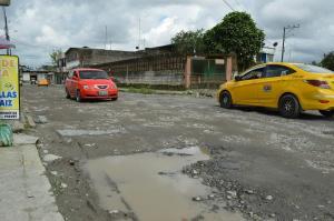 Calles dañadas