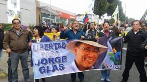 Simpatizantes piden libertad exvicepresidente Glas preso por caso Odebrecht