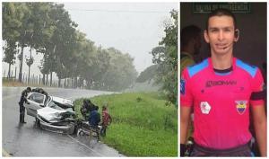 Reconocido árbitro de fútbol muere en accidente de tránsito