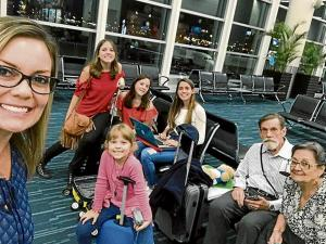Úrsula Strenge recorre Europa junto a su familia