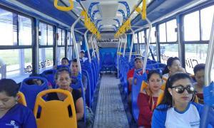 Primer bus climatizado