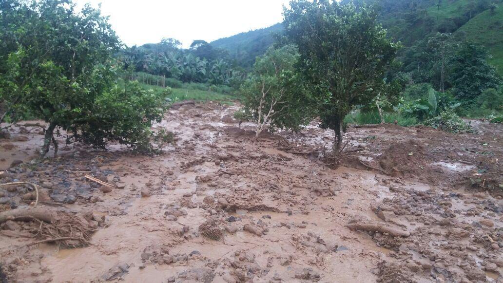 Deslizamiento de tierra en Pucayacu