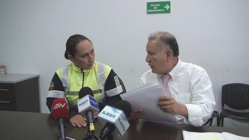 Agente civil de tránsito fue agredida por una infractora en Ibarra