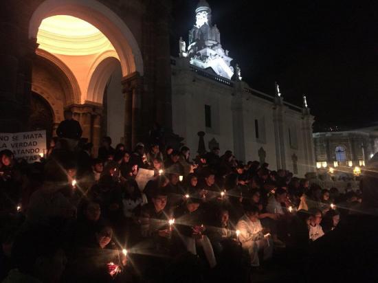 Eucaristía en Catedral de Quito en memoria de fallecidos en zona fronteriza