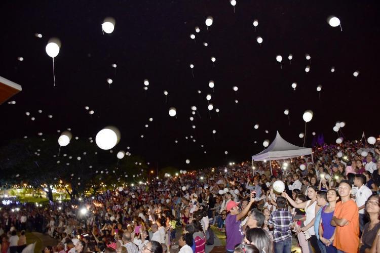 Una misa campal se dio en el Parque Las Vegas, Portoviejo