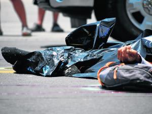 Motociclista muere en la vía, iba al trabajo