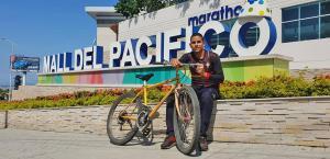 El ciclista  del Mall