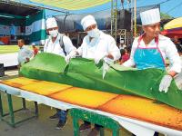 Más de 10 mil personas comieron torta gigante
