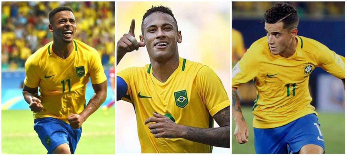 Brasil convoca al tridente ofensivo Neymar-Coutinho-Gabriel Jesús para Rusia