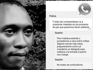 Ministro de Defensa aún no confirma chat de WhatsApp entre alias  'Guacho' y Policía