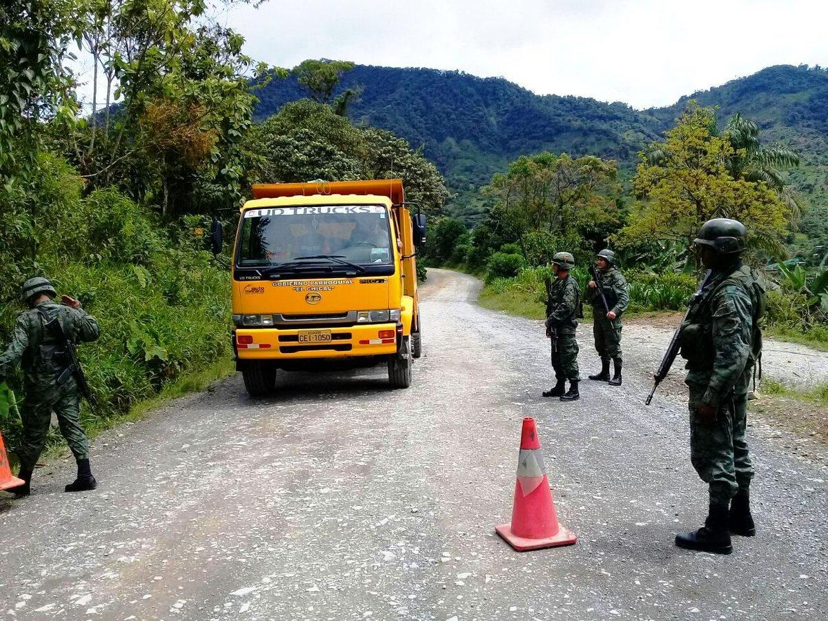 Ejército ecuatoriano continúa con la búsqueda de patrulla militar desaparecida