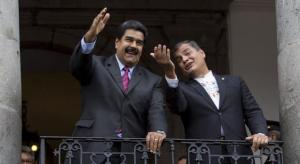 Rafael Correa llega a Venezuela y defiende sistema electoral para presidenciales