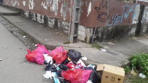 Desechos en la calle