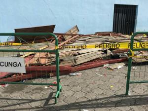 Veintiún heridos por colapso de tarima en Cotopaxi
