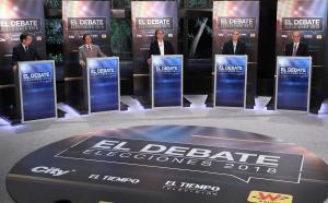 Candidatos a la presidencia de Colombia debatieron antes de las elecciones