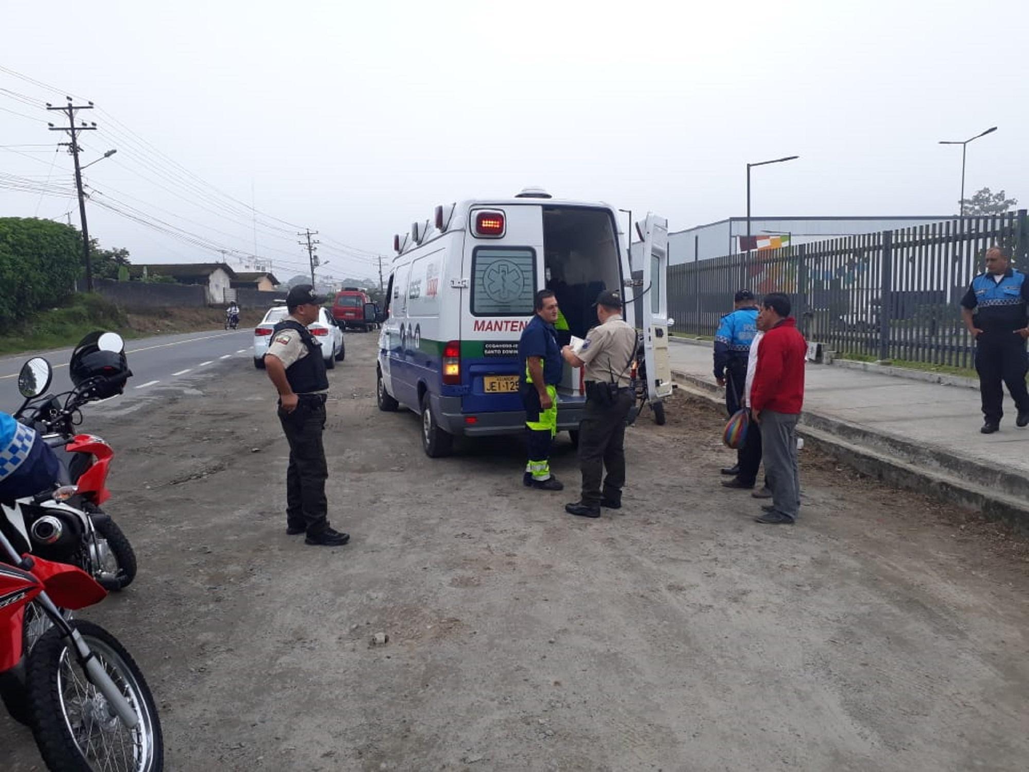 Policía municipal, herido en accidente