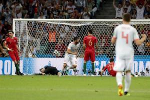 España y Portugal empatan 3-3 en un partidazo lleno de goles