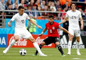 Giménez da la victoria a Uruguay ante Egipto